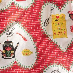 Vintage Other - VTG Heart Colonial Print Cotton Half Hostess Apron
